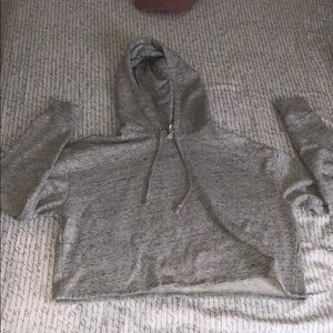 grey cropped sweatshirt from h&m